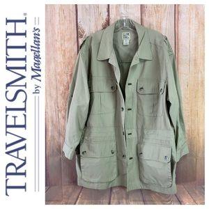 ➡️Men's TRAVELSMITH Shirt Jacket Size XLarge